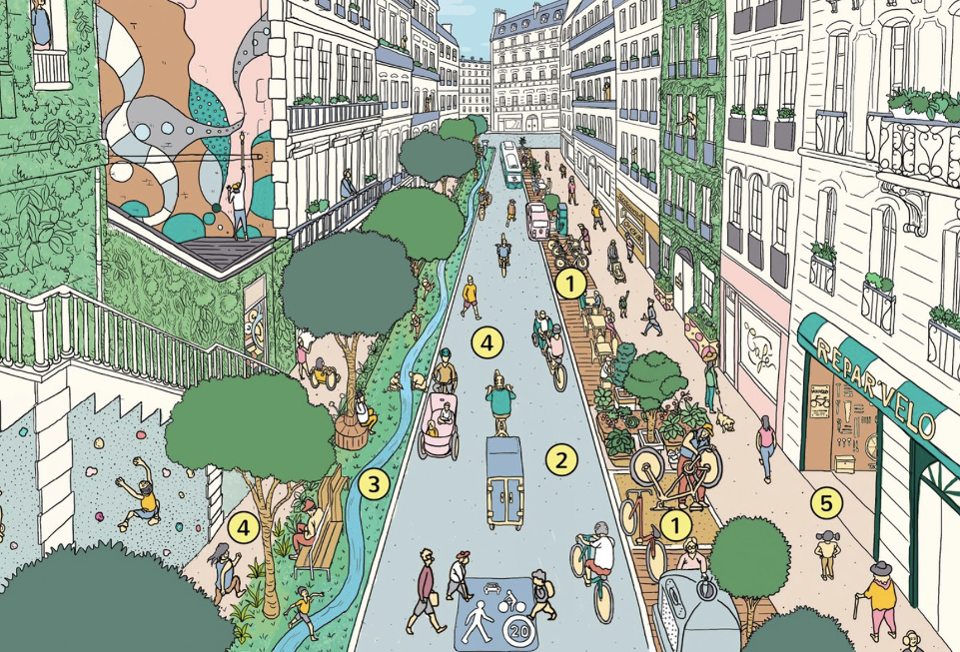 Phasing Out Cars Key To Paris Mayor's Plans For 15-Minute City
