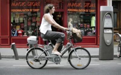 E-bikes versus not electric cars
