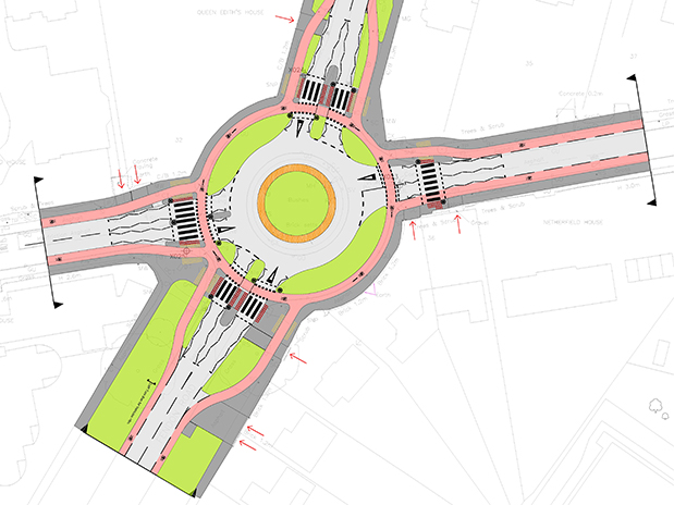 First 'Dutch style' roundabout in UK